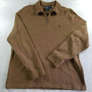 Polo Ralph Lauren 1/4 zip brown sweater
